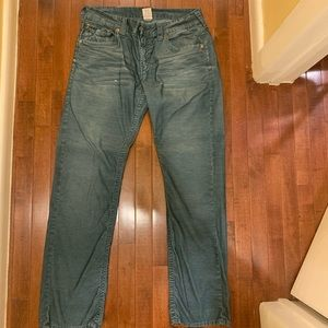 True religion green jeans pants size 34